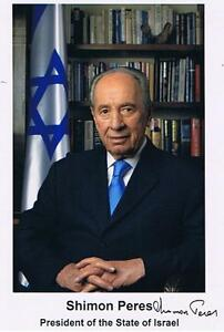 Shimon Peres former Prime Minister of Israel.