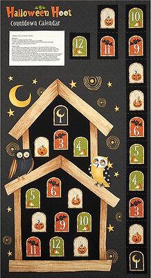 Halloween Owl Advent Calendar Cotton Fabric SSI Halloween Hoot 24