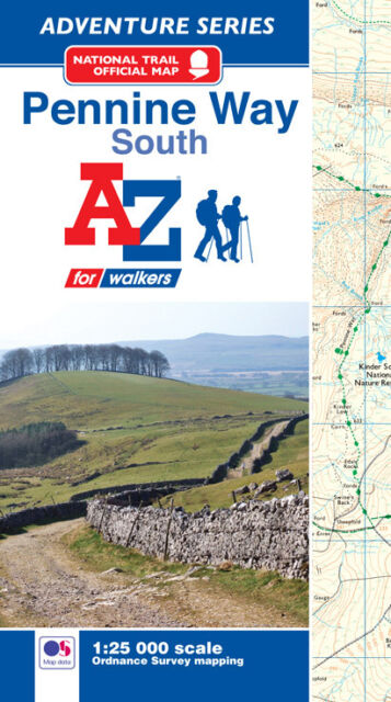 Pennine Way (South) Adventure Atlas by A-Z Maps (Paperback, OS 25000 mapping)