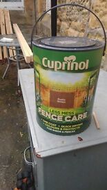 CUPRINOL Less Mess Fence Care x 1 plus nearly a full one.