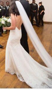 Petite lace wedding dress