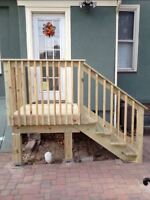 Wanted: building Simple deck stairs