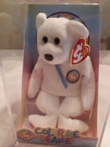 2002 TY Beanie Babies COLOR ME BEAR in Original Case
