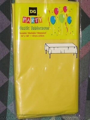 """Used, TABLE COVERS 4 LOT PLASTIC PROTECTORS LARGE 54"""" X108"""" YELLOW /SEE MY OTHER ITEMS for sale  Aurora"""