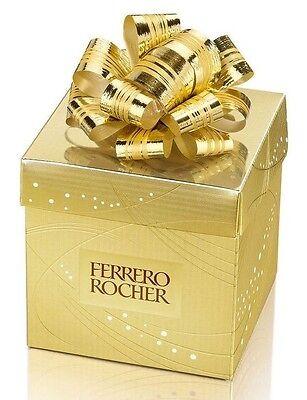 - FERRERO ROCHER FINE HAZELNUT CHOCOLATE CANDY  WRAPPED GIFT