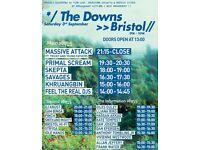 1 x Ticket (£60) Massive Attack ft Tricky, Primal Scream, Skepta etc - Bristol Downs, Sat 03.09.16