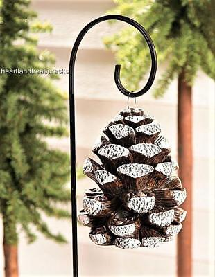 Resin Pinecone Bird Feeder w/ Metal Shepard's Yard Stake