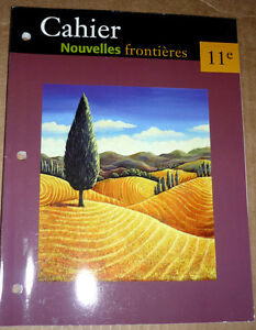 French Exercise Book :Cahier Nouvelles frontiers 11e universite Cambridge Kitchener Area image 1