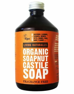 Soap Nuts Laundry Liquid (Organic Castille Soap Nut Liquid Detergent 500ml Eco Dish Laundry Washing)