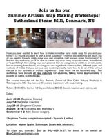 Artisan Soap making workshops at the Sutherland Steam Mill