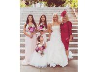 NEW 2T beautiful Davids Bridal heart cut out Flower Girl Dress