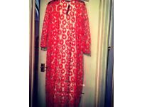 BRAND NEW Red Flowered Kimono Top - Size 14
