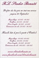 PROMO SEPTEMBRE (Ongles, Cils, Maquillage & Coiffure)