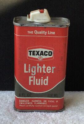 Vintage Texaco 4oz Lighter Fluid Handy Tin Can #4a