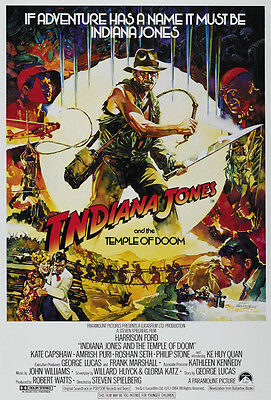 Indiana Jones And The Temple Of Doom  1984  Harrison Ford Movie Poster Print 8