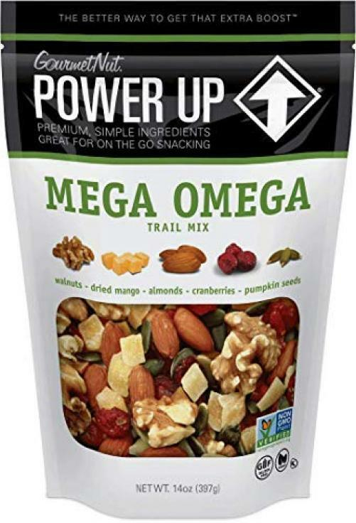 Power Up Trail Mix, Mega Omega Keto-Friendly, 14 Ounce (Pack of 1)