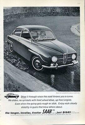 1965 SAAB 2-Door PRINT AD