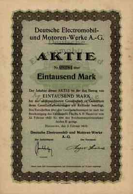 Deutsche Electromobil Motoren Omnobil Kaha 1922 Hannover Wasseralfingen Dresden