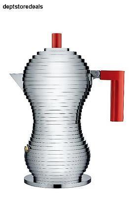Pulcina Stove Top Espresso 3 Cup Coffee Maker in Aluminum Casting Handle & Knob