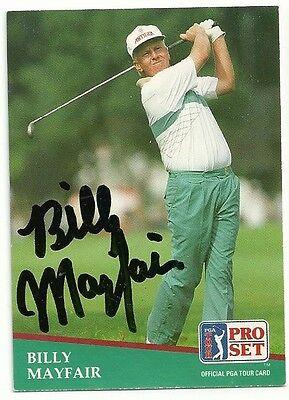 - PGA Billy Mayfair Signed Auto 1991 Pro Set Card #26  Arizona State  TOUGH  C