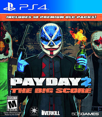 Payday 2  The Big Score Ps4 New Ps4