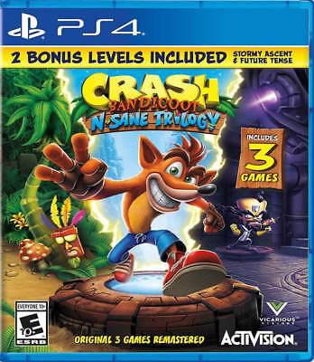 Crash Bandicoot N. Sane Trilogy 2.00 PS4 New PlayStation 4,PlayStation 4