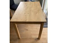 IKEA Bjorkudden dining table and 4 Henriksdal chairs