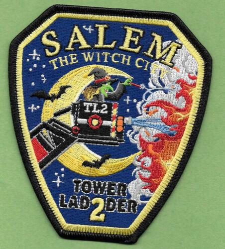 SALEM MASS FIRE DEPT TOWER 2 THE WITCH CITY LADDER 2 BATS STARS MOON (PD) FD
