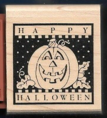 HAPPY HALLOWEEN Holiday Greetings Envelope SEAL words Stampin' Up! Rubber Stamp](Halloween Greetings Words)