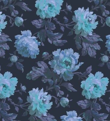 NEW Roll Anthropologie Peoneden Midnight Owl Wallpaper House Of Hackney