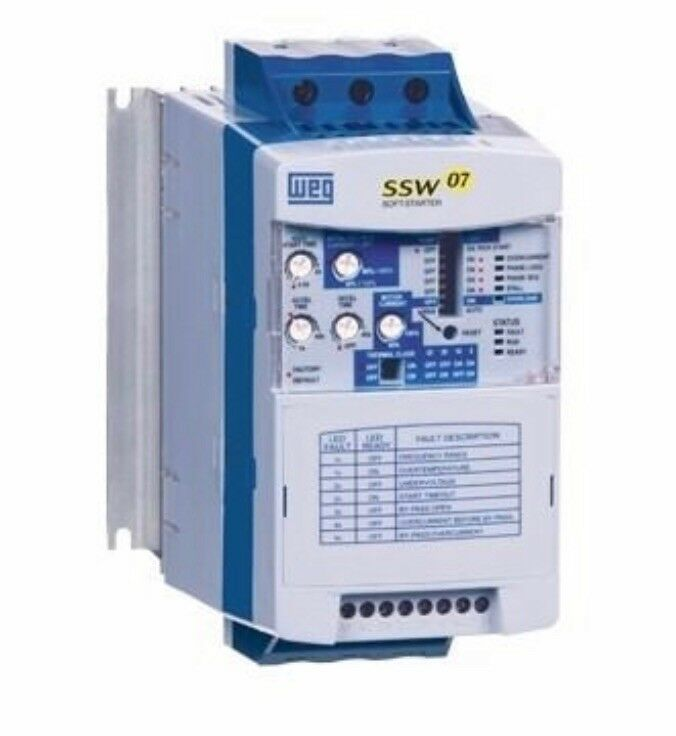 NEW, SOFT STARTER, WEG, SSW070130T5SZ, 220-575 VAC RATED, 3 PHASE, 130A RATED.