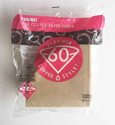 Hario 02 100 Count Coffee Paper Filter, Natural