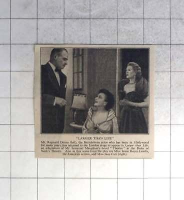 1950 Reginald Denny In Larger-than-life, Jesse Landis, Jane Carr
