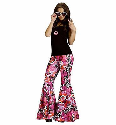 Fun World Flower Power Bell Bottoms Costume for Girl. Model is 5ft 7in 110lbs](Flower Power Costume)