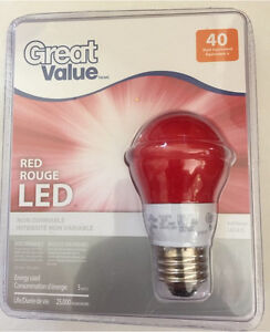 NEW Red led lightbulb - ampoule DEL rouge