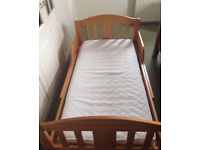 Wooden junior bed, cot bed