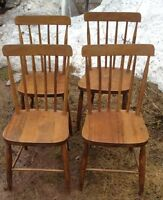 Vintage Hardwood Kitchen Chairs