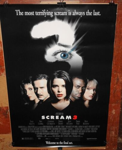 SCREAM 3 orig rolled studio issue 1sheet poster EXCELLENT, UN-USED genuine!