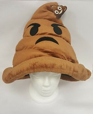 Emoji Poop Face Emoticon Stuffed Pillow Cushion Hat Plush Halloween costume