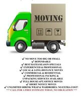 Professional Movers. Short Notice Ok!