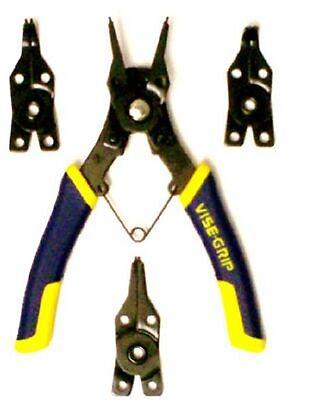 IRWIN INDUSTRIAL TOOL CO  Vise-Grip 4 Piece Convertible Snap Ring Pliers 2078900 4 Piece Vise Grip Plier