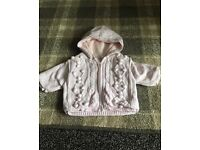 Next jacket pale pink 0-3 months