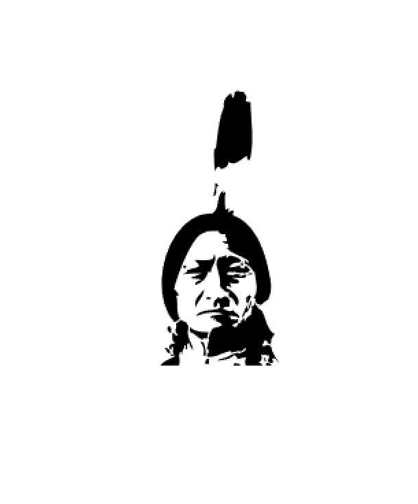 Airbrush Schablone - Stencil Indianer