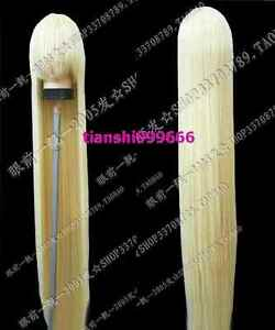 New Long Platinum Blonde Cosplay Party Wig 150cm AA:49