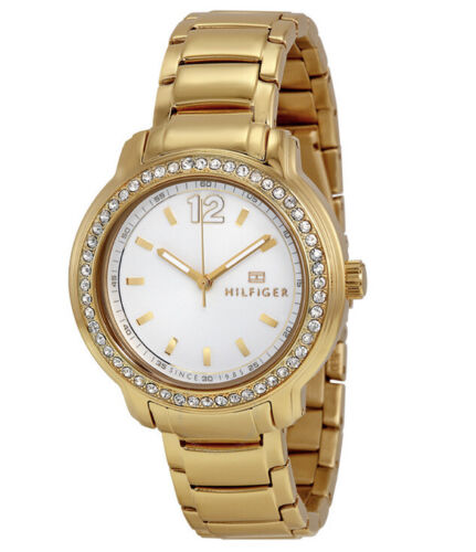 NIB Tommy Hilfiger Silver Dial Gold-tone Ladies Watch 1781467 $145 Jewelry & Watches
