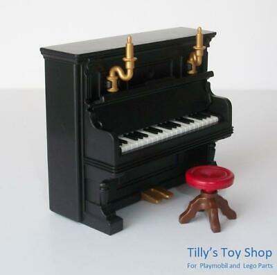 Playmobil  Upright Piano & Stool - Musical Instrument - Victorian Dollshouse-NEW