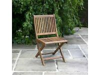 4 x Folding Chair BillyOh Hampton Eucalyptus Wood Folding Chairs