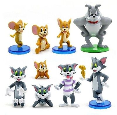 - Tom & Jerry Spike Mouse Playset 9 Figure Cake Topper * USA SELLER* Toy Doll Set