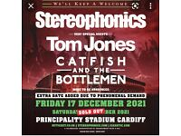2 x Stereophonics and Tom Jones (& support act) seated tickets