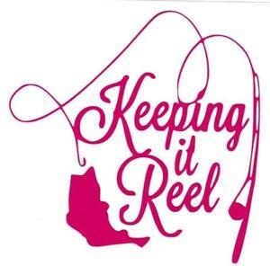 Keeping It Reel funny Fishing Hunting Car Truck Suv vinyl sticker decal